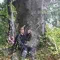 Buk - člen uvítacieho výboru prírodného lesa a miestna celebrita