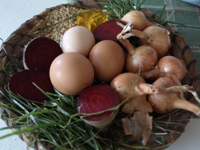 Ako farbiť vajíčka s cibuľou?