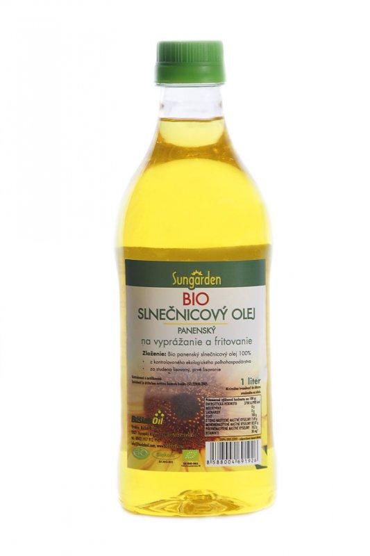 Bio slnečnicový olej na vyprážanie a fritovanie, Sungarden 1l