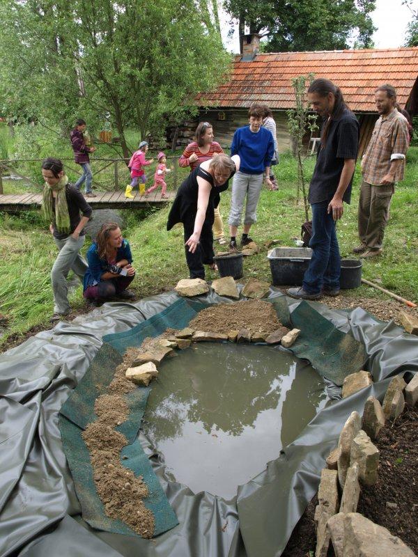 Budovanie jazierka v záhrade