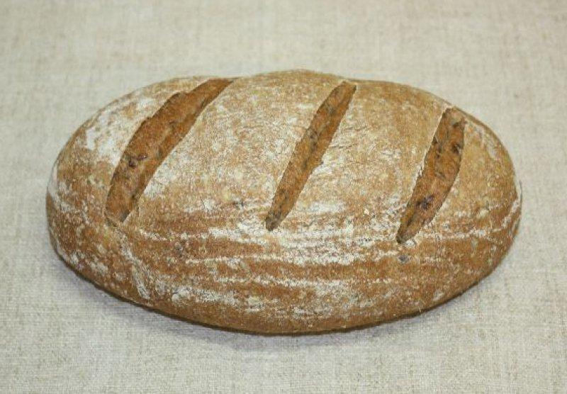 Celozrnný špaldový kváskový chlieb s ľanom, BIO