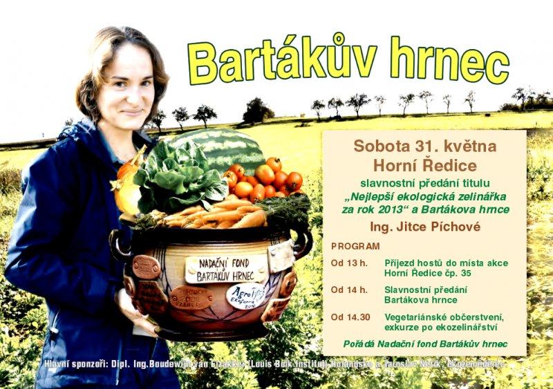 Najlepšou ekologickou poľnohospodárkou ČR za rok 2013 je Jitka Píchová