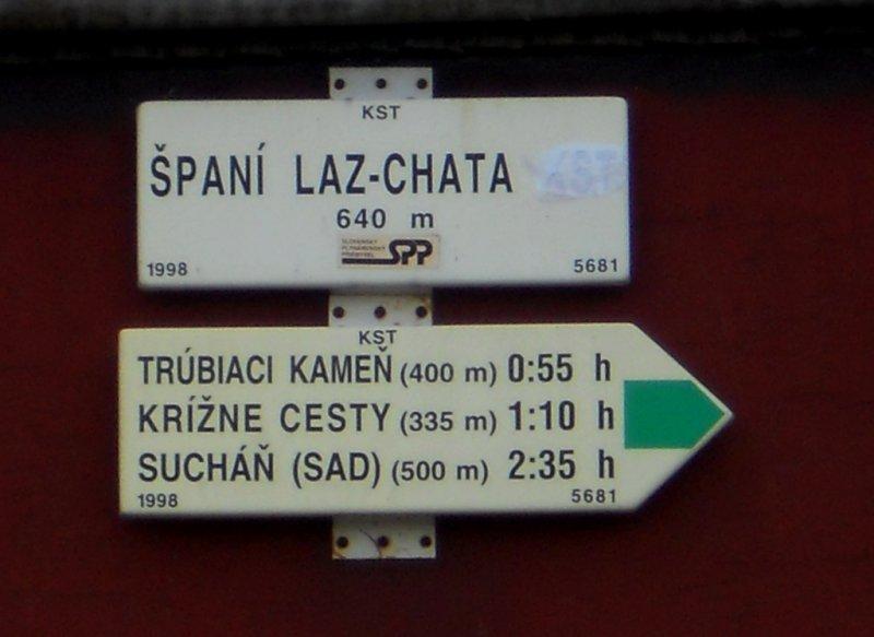 Smerovník: ŠPANÍ - LAZ CHATA