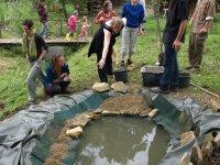 Budovanie jazierka v záhrade,  foto: Alena Pohorencová