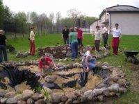 budovanie prírodného jazierka