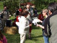 odovzdávanie plakety prírodná záhrada
