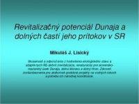 revitalizačný potenciál dunaja