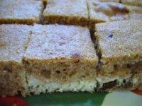 Špaldový koláč s tvarohom