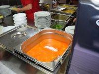 tekvicová polievka - samoobsluha