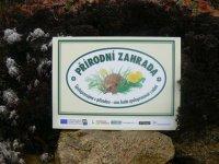 záhradná plaketa prírodná záhrada