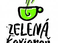 logo, zelená kaviareň