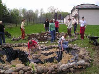 Budovanie prírodného jazierka a bylinnej špirály na SOŠ polytechnickej, Liptovský Mikuláš