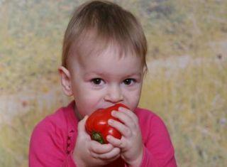 Dieťa a paprika