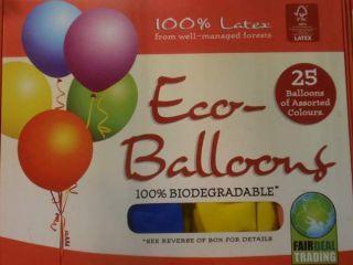 EKO balóny zo spravodlivého obchodu
