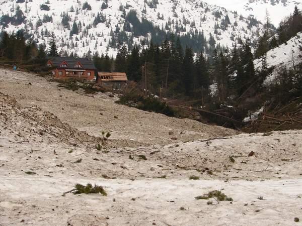 Lavína v Žiarskej doline