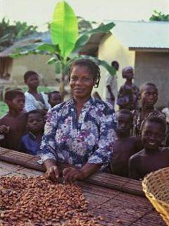 Kakaová roľníčka z Ghany