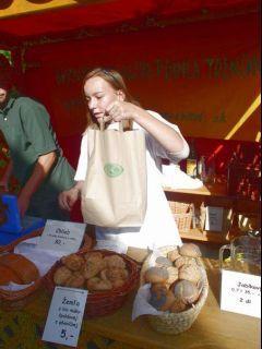 Špaldové žemličky - šup do tašky s logom Ekopoľnohospodárstvo