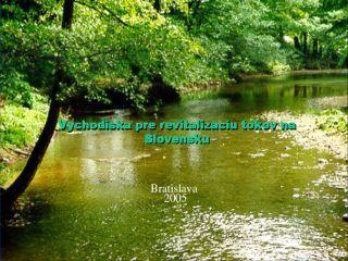 Východiská pre revitalizáciu tokov