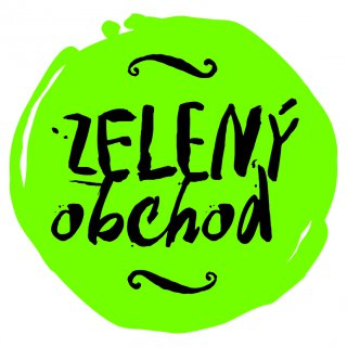 Zelený obchod, logo, nálepka
